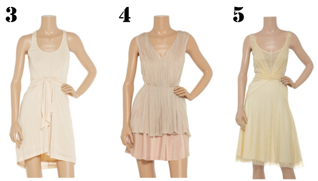 3. Dress, Halston Heritage; 4. Dress, Erin Fetherston; 5. Dress, Zac Posen